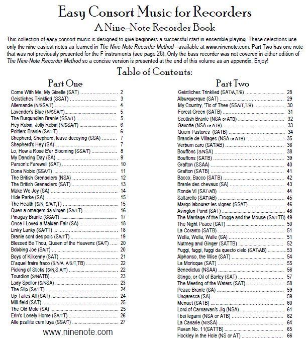 nine note recorder method pdf