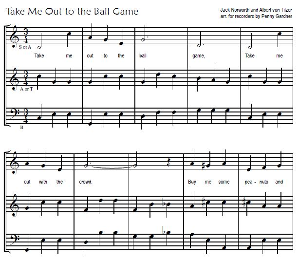 ball game snip recorder consort music