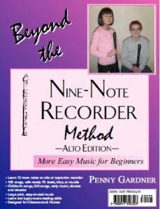 intermediate music book for alto or sopranino recorder