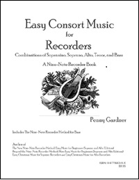 recorder consort music SATB using 9 easiest note