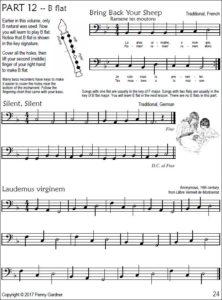 intermediate bass recorder music