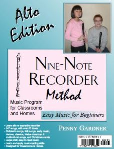 alto recorder instruction music book