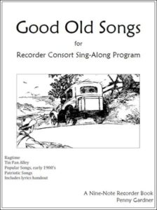 early 20th century music for recorder consort and sing-along
