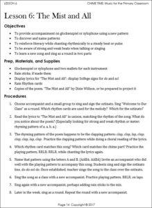 primary grades vocal music curriculum