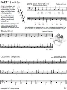 intermediate bass recorder music